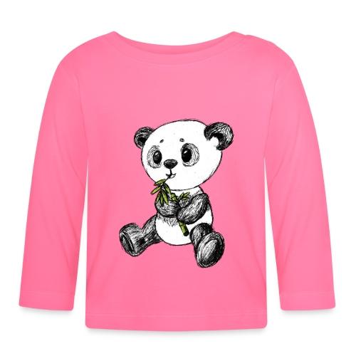 Panda Karhu värillinen scribblesirii - Vauvan pitkähihainen paita