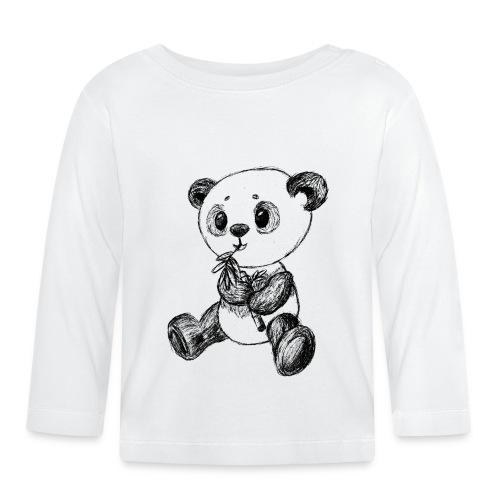 Panda Karhu musta scribblesirii - Vauvan pitkähihainen paita
