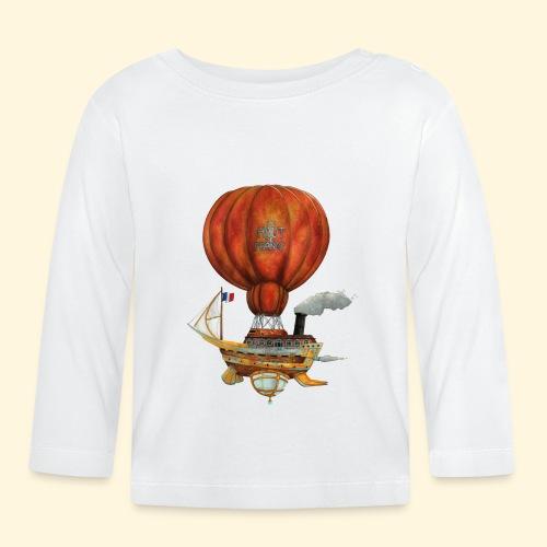 Le Haut-de-France - Bateau Steampunk Ch'ti - T-shirt manches longues Bébé