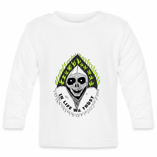 Image of death v2 with text IN LIFE WE TRUST - T-shirt manches longues Bébé