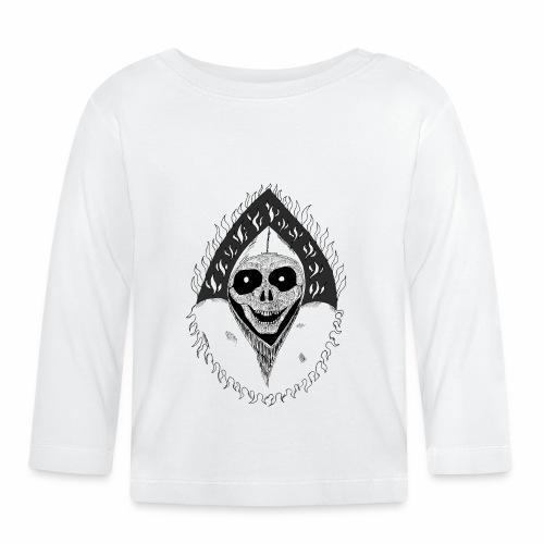 Grimp reaper blank text black & white - T-shirt manches longues Bébé