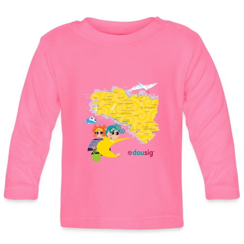 Carte de la Bretagne Dousig - T-shirt manches longues Bébé