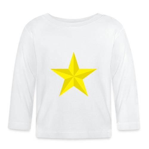 amish barn star yellow gelber Stern stella gialla - Maglietta a manica lunga per bambini