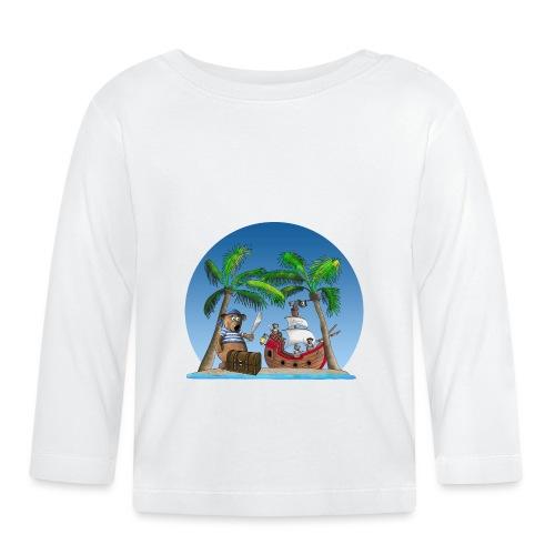 Pirat - Piratenschiff - Schatzinsel - Baby Langarmshirt