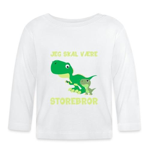 Jeg skal være storebror dino dinosaur dinosaurus - Langærmet babyshirt