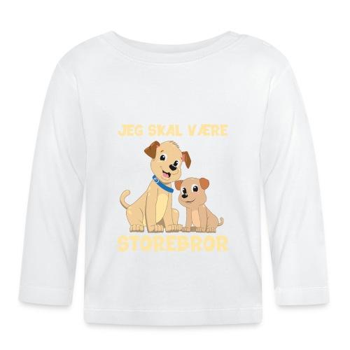 Jeg skal være storebror hvalpe hund gave fødsel - Langærmet babyshirt