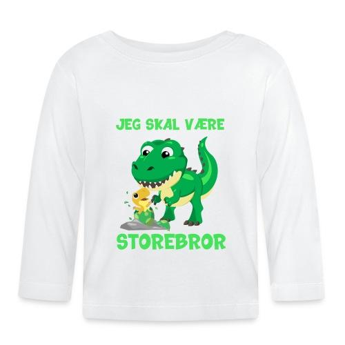 Jeg skal være storebror dinosaur gave dino - Langærmet babyshirt