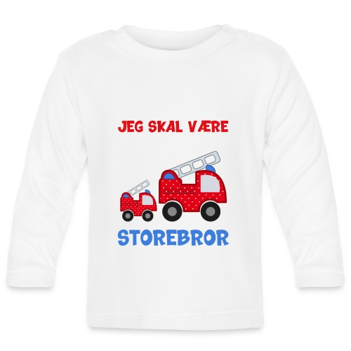 Jeg skal være storebror brandbil gave brandvæsen - Langærmet babyshirt