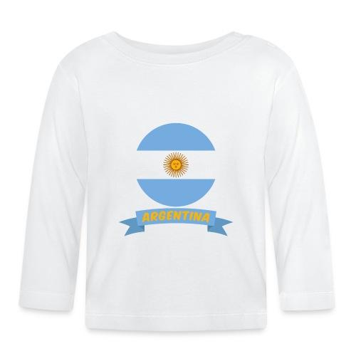 flag of argentina t shirt design ribbon banner - Maglietta a manica lunga per bambini