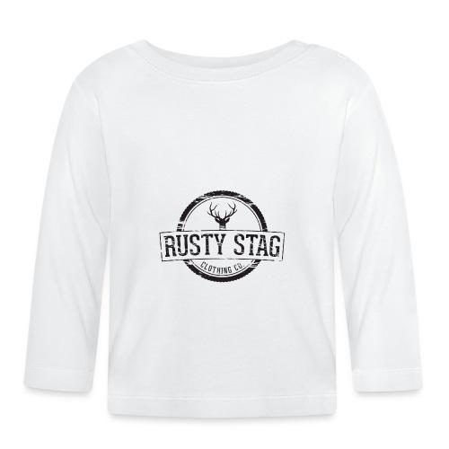 RustyStagBadgeBlack 01 png - Baby Long Sleeve T-Shirt