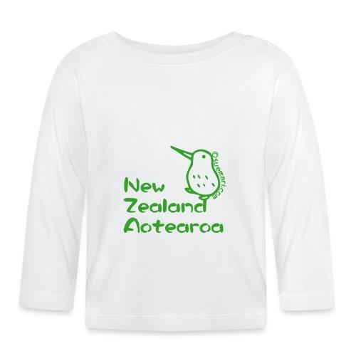 New Zealand Aotearoa - Baby Long Sleeve T-Shirt