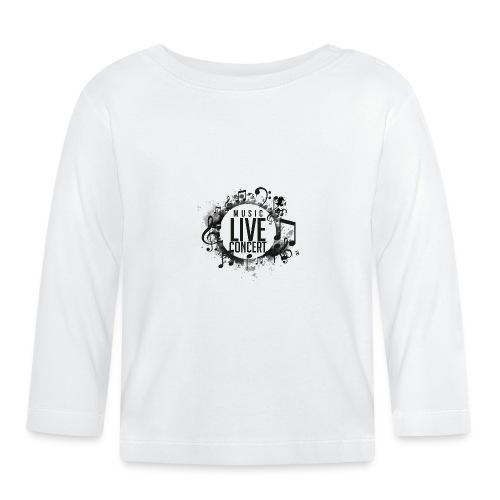 musica - Camiseta manga larga bebé