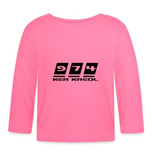 Logo écriture 974 Ker Kreol - T-shirt manches longues Bébé