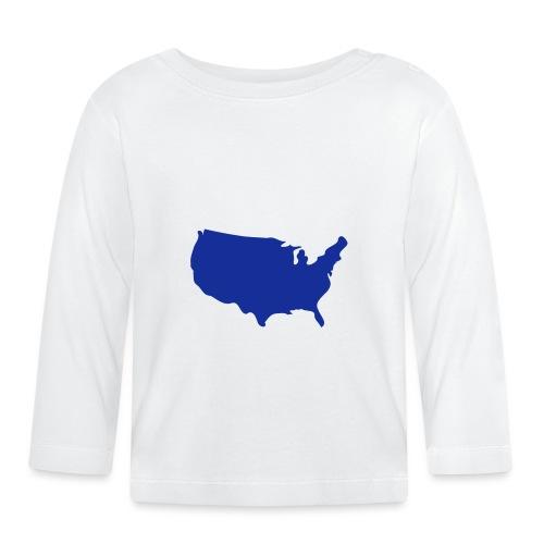 usa map - Baby Long Sleeve T-Shirt