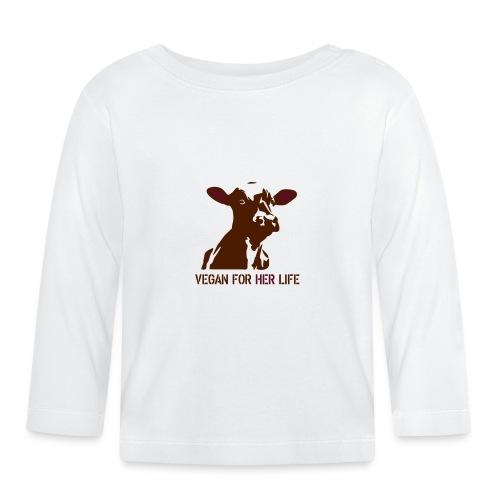 vegan for her life - Baby Langarmshirt