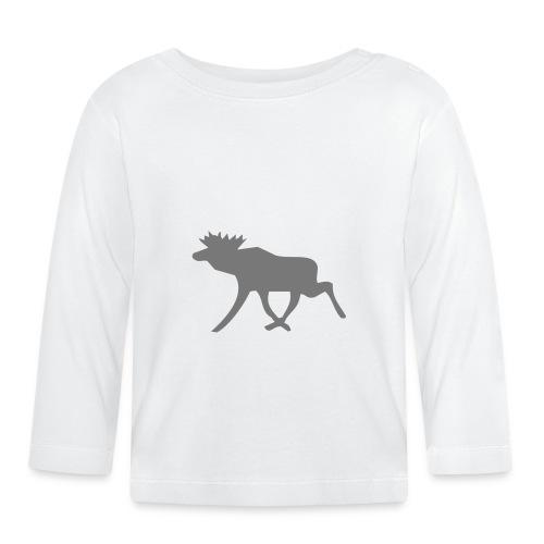 Schwedenelch; schwedisches Elch-Symbol (vektor) - Baby Langarmshirt