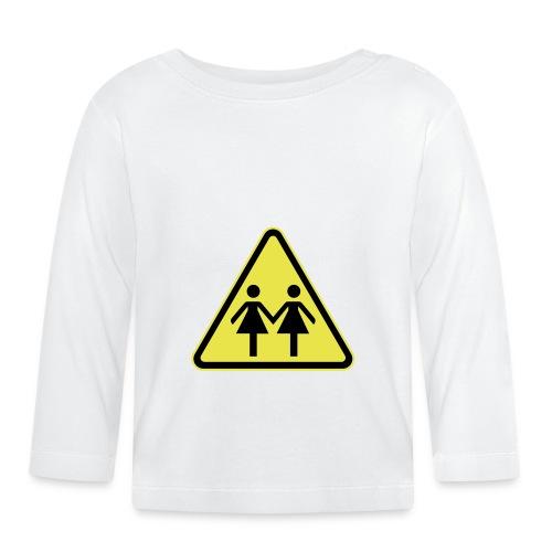 ACHTUNG LESBEN POWER! Motiv für lesbische Frauen - Baby Langarmshirt