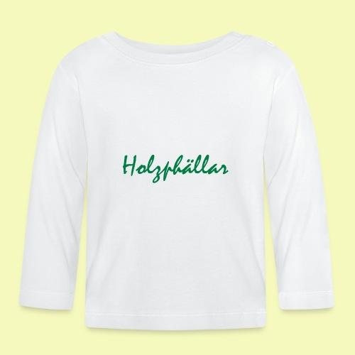 Schriftzug Grün - Baby Langarmshirt
