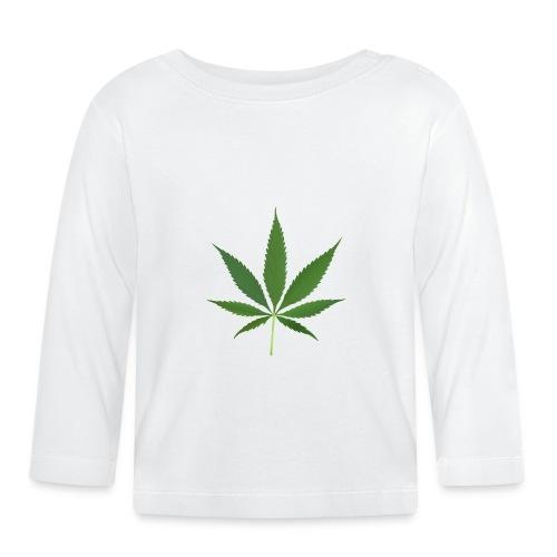 2000px-Cannabis_leaf_2 - Langærmet babyshirt
