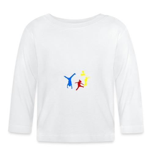 Logo Gif weiss farbig 120dpi 2000px - Baby Langarmshirt