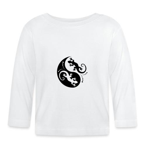 YIN & YANG Geckos black - Baby Langarmshirt