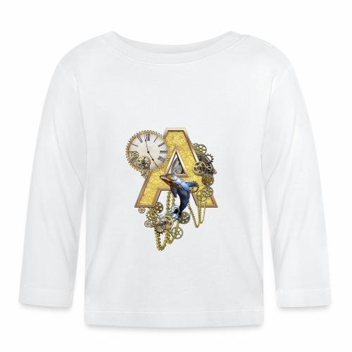 Alphabet-Capital A - Baby Long Sleeve T-Shirt