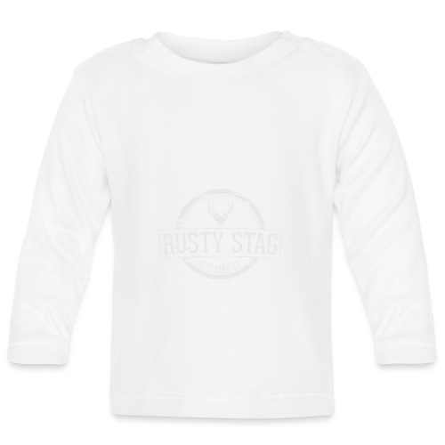 RustyStagBadgeWhite 01 png - Baby Long Sleeve T-Shirt