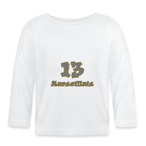 fier marseille blanc 03 - T-shirt manches longues Bébé