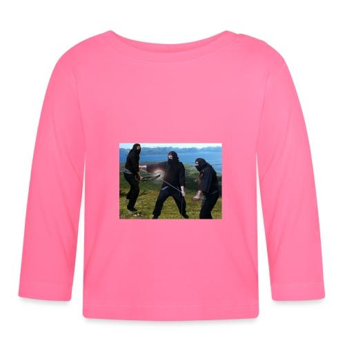 Chasvag ninja - Langarmet baby-T-skjorte