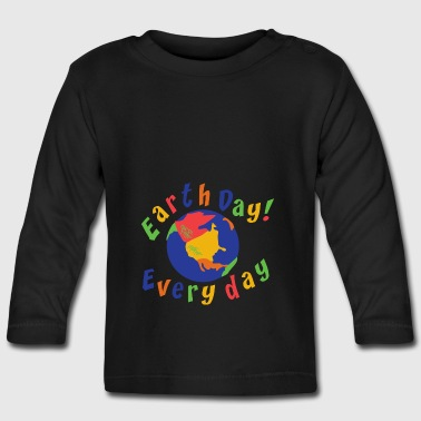 Earth Day Every Day - Langarmet baby-T-skjorte