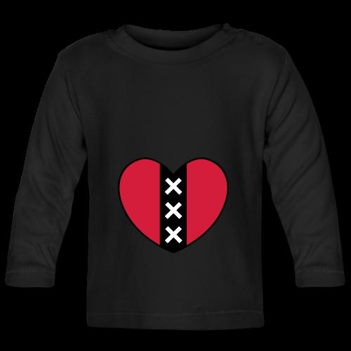 Hart met het symbool van de stad Amsterdam - T-shirt