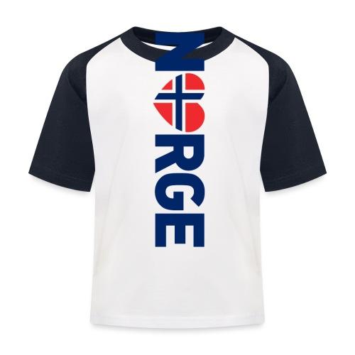 Elsker Norge - fra Det norske plagg - Baseball-T-skjorte for barn
