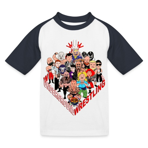 comics-wrestler - Kinder Baseball T-Shirt