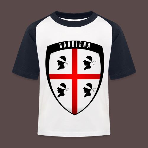 Sardegna Stemma - Maglietta da baseball per bambini
