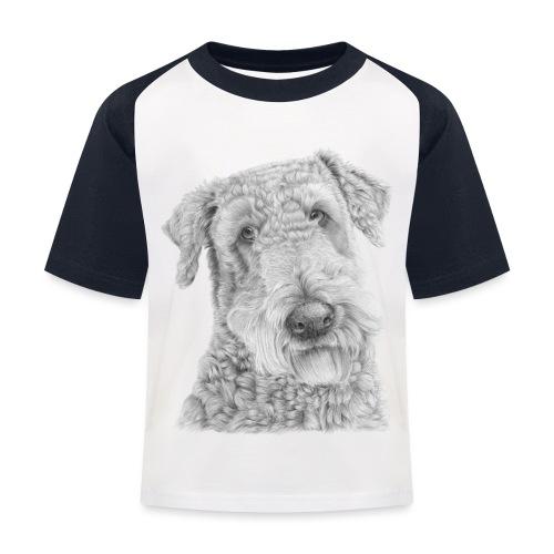 airedale terrier - Baseball T-shirt til børn