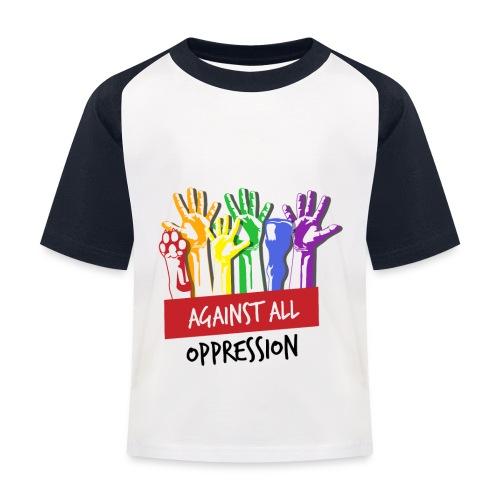 Against All Oppression - Kinderen baseball T-shirt