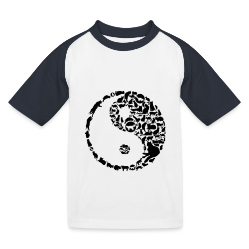 YinYang Cats - Kinder Baseball T-Shirt