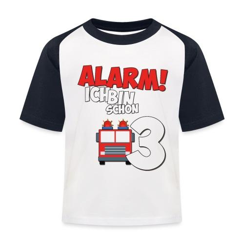 Feuerwehrauto 3. Geburtstag Jungen 3 Jahre - Kinder Baseball T-Shirt