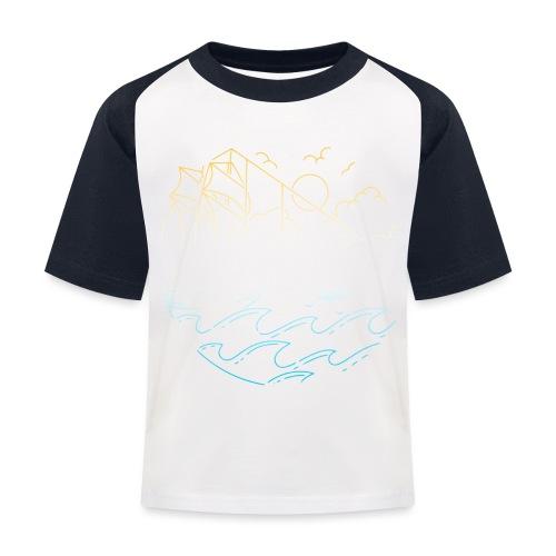 Schiff mit Sonne und Meer - Kinder Baseball T-Shirt