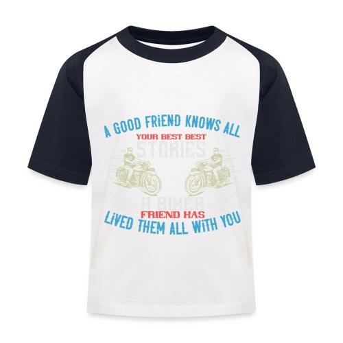 Biker stories. - Kids' Baseball T-Shirt