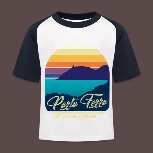 Porto Ferro - Vintage travel sunset - Maglietta da baseball per bambini