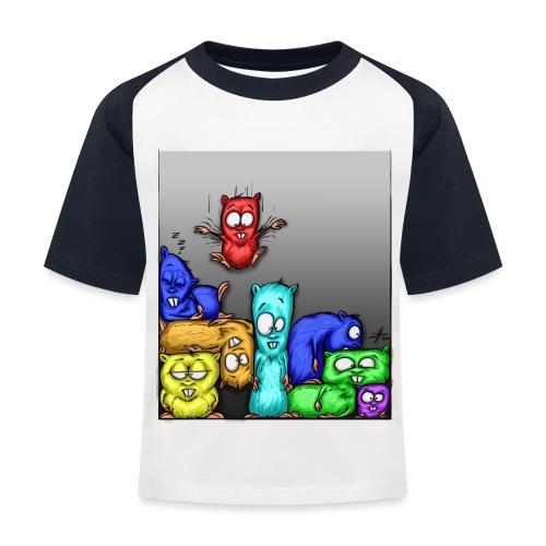 hamstris_farbe - Kinder Baseball T-Shirt