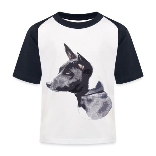 basenji black - Baseball T-shirt til børn
