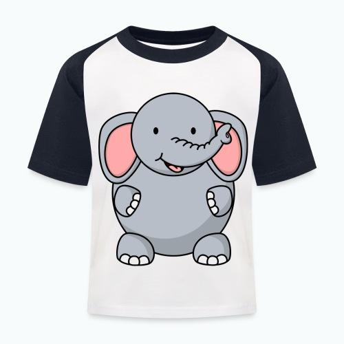 Ellie Elephant - Appelsin - Baseboll-T-shirt barn