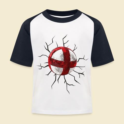 Radball | Cycle Ball Crash - Kinder Baseball T-Shirt