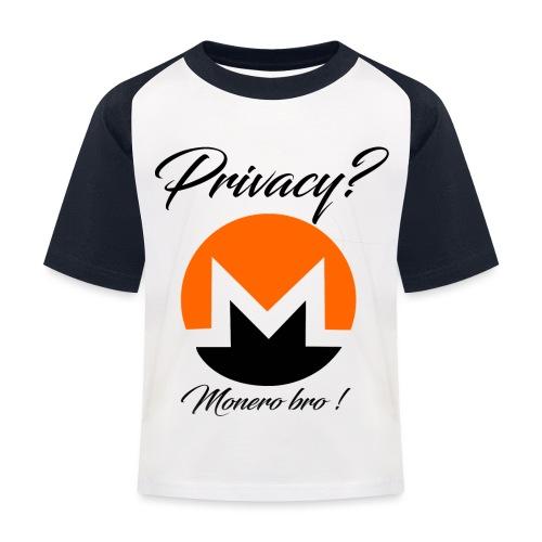 Moneroooo - T-shirt baseball Enfant