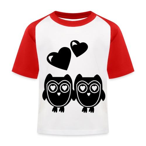 verliebte Eulen - Kinder Baseball T-Shirt