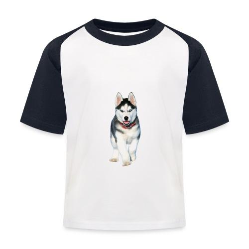 Husky Welpen mit bezaubernden Augen - Kinder Baseball T-Shirt