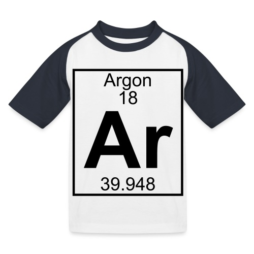 Argon (Ar) (element 18) - Kids' Baseball T-Shirt