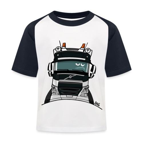 0488 V truck wit - Kinderen baseball T-shirt